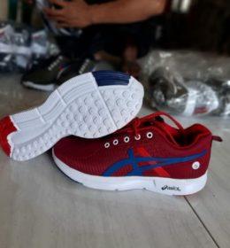 Grosir Sepatu Asics Warna Merah Maroon Murah