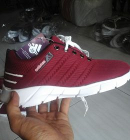 Sepatu Sneakers Adidas Red Maroon Color