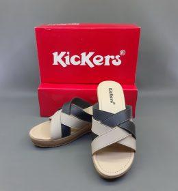 Sandal Kickers Wanita Hak Tinggi Black Color