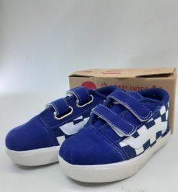 Sepatu Anak Bayi Motif Catur Biru